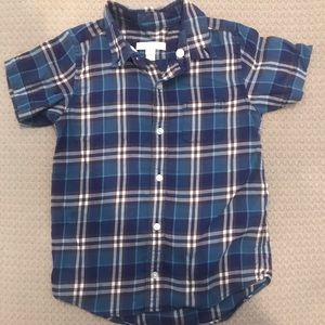 Boys blue Burberry button down size 6